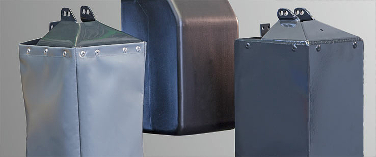 Chain boxes of fabric, plastic and sheet steel for the ST chain hoist from STAHL CraneSystems
