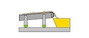 Diagram of a movable conveyor system