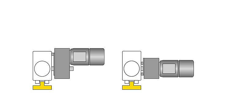 Acionamento de translação standard com apoio do binário horizontal no bloco de rodas