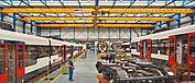 Pontes rolantes especiais com seis diferenciais de cabo SH5 na indústria ferroviária