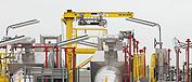 Im neuen GATE Terminal im Hafen von Rotterdam wird ein an einem Schwenkkran befestigtes explosionsgeschütztes LNG-Hebezeug eingesetzt.