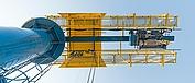 Schwenkkran mit LNG-Seilzug SH – Ansicht von unten.