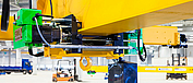 ST chain hoist from STAHL CraneSystems as short headroom trolley