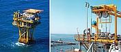 Una variante especial de polipasto de cable AS 7 se emplea en una instalación offshore para el transporte de herramientas.