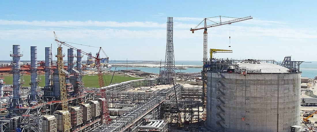 LNG terminal near Corpus Christi in the USA