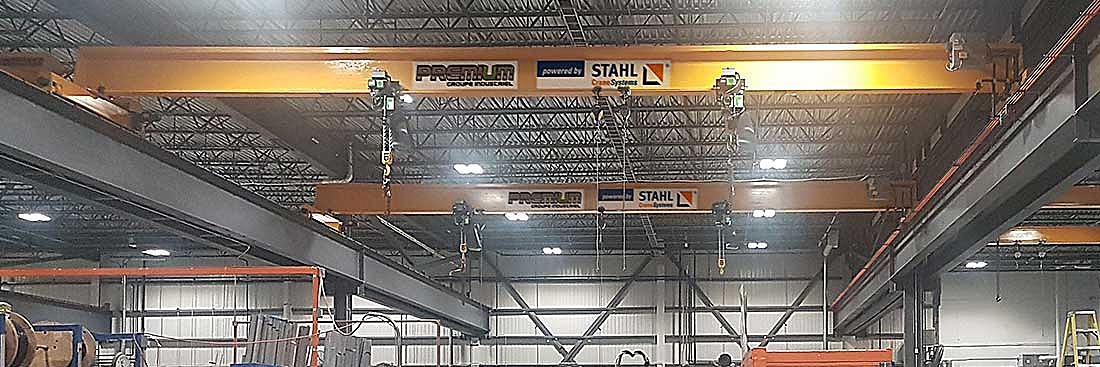 STAHL CraneSystems hoisting technology for Canadian air handling equipment manufacturer