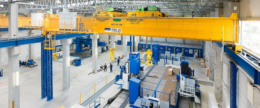 Double girder overhead travelling crane at VVE Benes in Slovakia