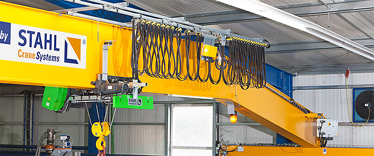 Single girder overhead travelling crane with SH wire rope hoist