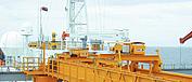 STAHL CraneSystems: Projetos internacionais – grua-ponte biviga com dois diferenciais de cabo AS 7 apta para navegar