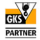 Logo: GKS Partner –  associated member company of the Gütegemeinschaft Kranservice e.V. (Crane service quality association)