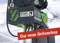 Kettenzüge von STAHL CraneSystems im neuen Onlineshop von Haslinger individuell zusammenstellen.