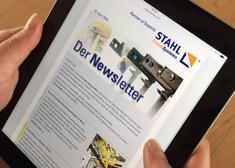 Abonnieren Sie hier den Newsletter von STAHL CraneSystems.