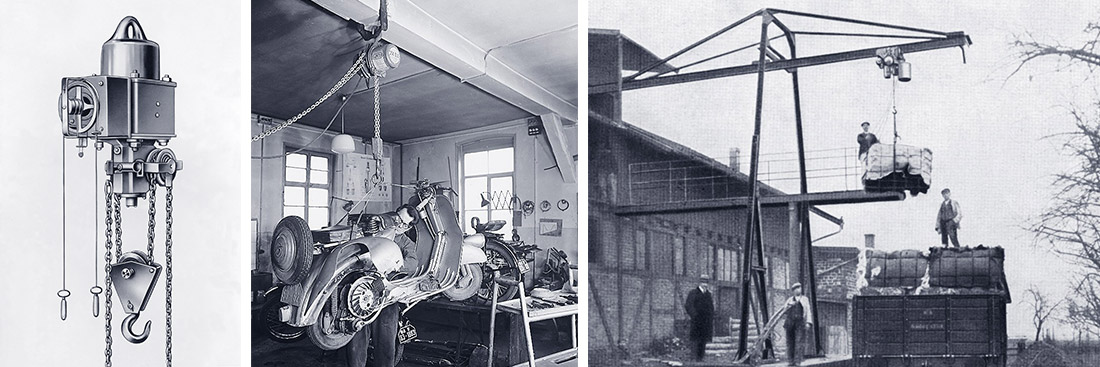STAHL CraneSystems: History – the development of chain hoists