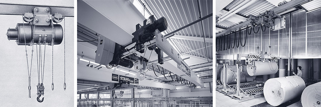 STAHL CraneSystems: History – the development of wire rope hoists