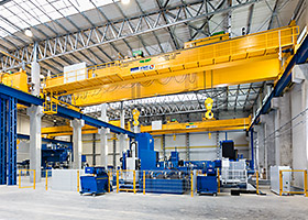 Bridge crane or suspension crane, custom solution or explosion protection – with hoists and crane components from STAHL CraneSystems, crane-building experts around the world build technically sophisticated crane systems.