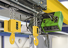 The STD dual chain hoist was developed specifically for long material and loads that need to be picked up at two points.