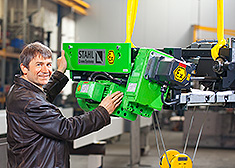 Product training in explosion-protected hoist