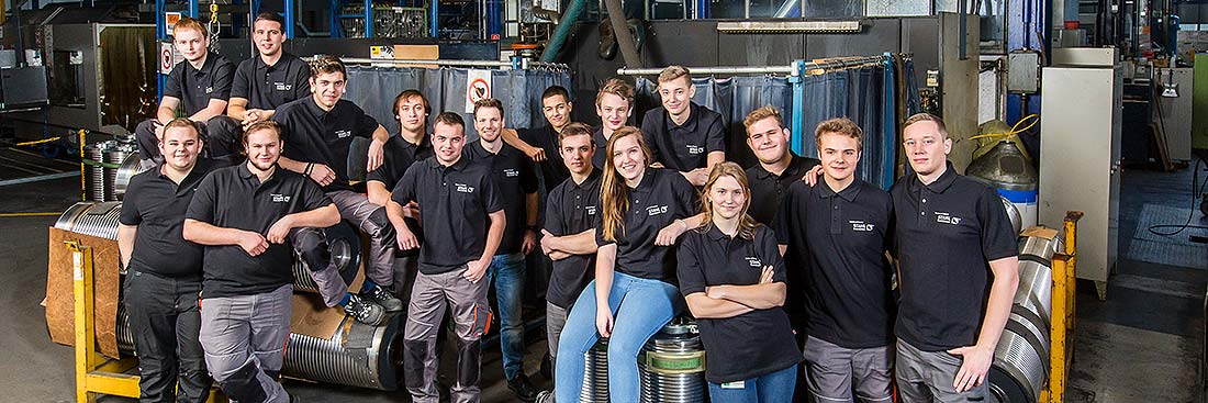 Employees of STAHL CraneSystems at its plant in Künzelsau