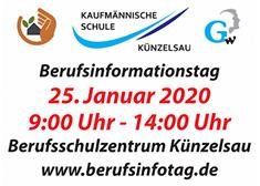 Banner zum Berufsinformationstag am 25. Januar 2020