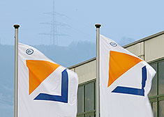 STAHL CraneSystems – flags outside the Künzelsau headquarters