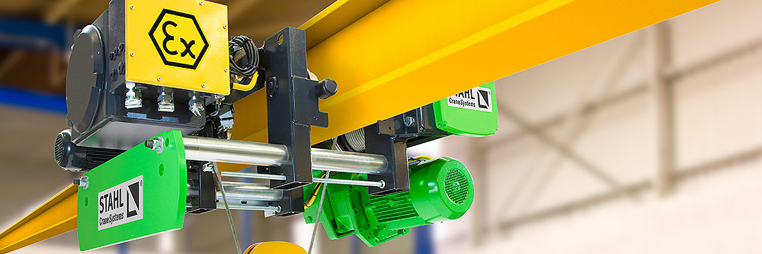 The SH Ex wire rope hoist is available for the gas explosion protection zones 1 and 2, as well as for the dust explosion protection zones 21 and 22.