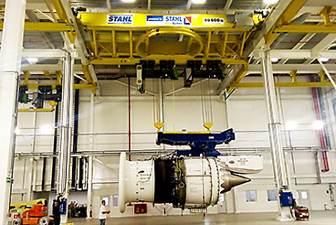 STAHL CraneSystems: 40-tonnes double-girder overhead travelling crane used to handle the turbines.
