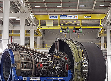 STAHL CraneSystems: A 10-tonne auxiliary crane for handling of turbine parts and components