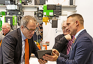 STAHL CraneSystems staff at the stand at LogiMAT 2019