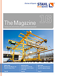 The eMagazine 16 of STAHL CraneSystems
